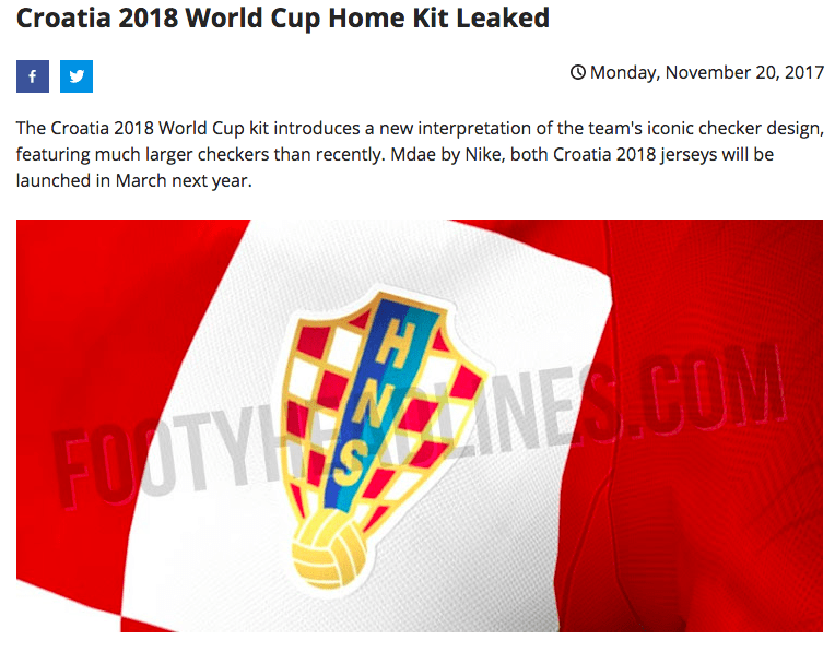 3af2136c967 Croatia s Full Kit for World Cup 2018 Leaked