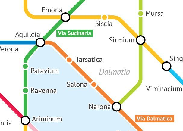 Ancient Rome Subway Map.Roman Roads Imagined As A Subway Map Spot Croatia
