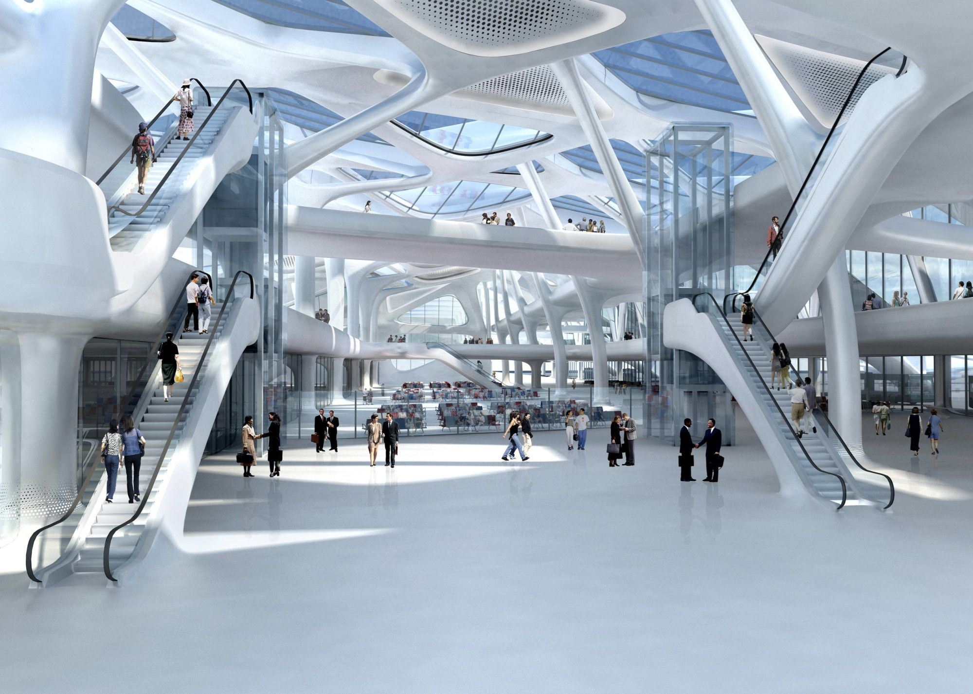 In Memory Of Zaha Hadid Zagreb Airport As Imagined By