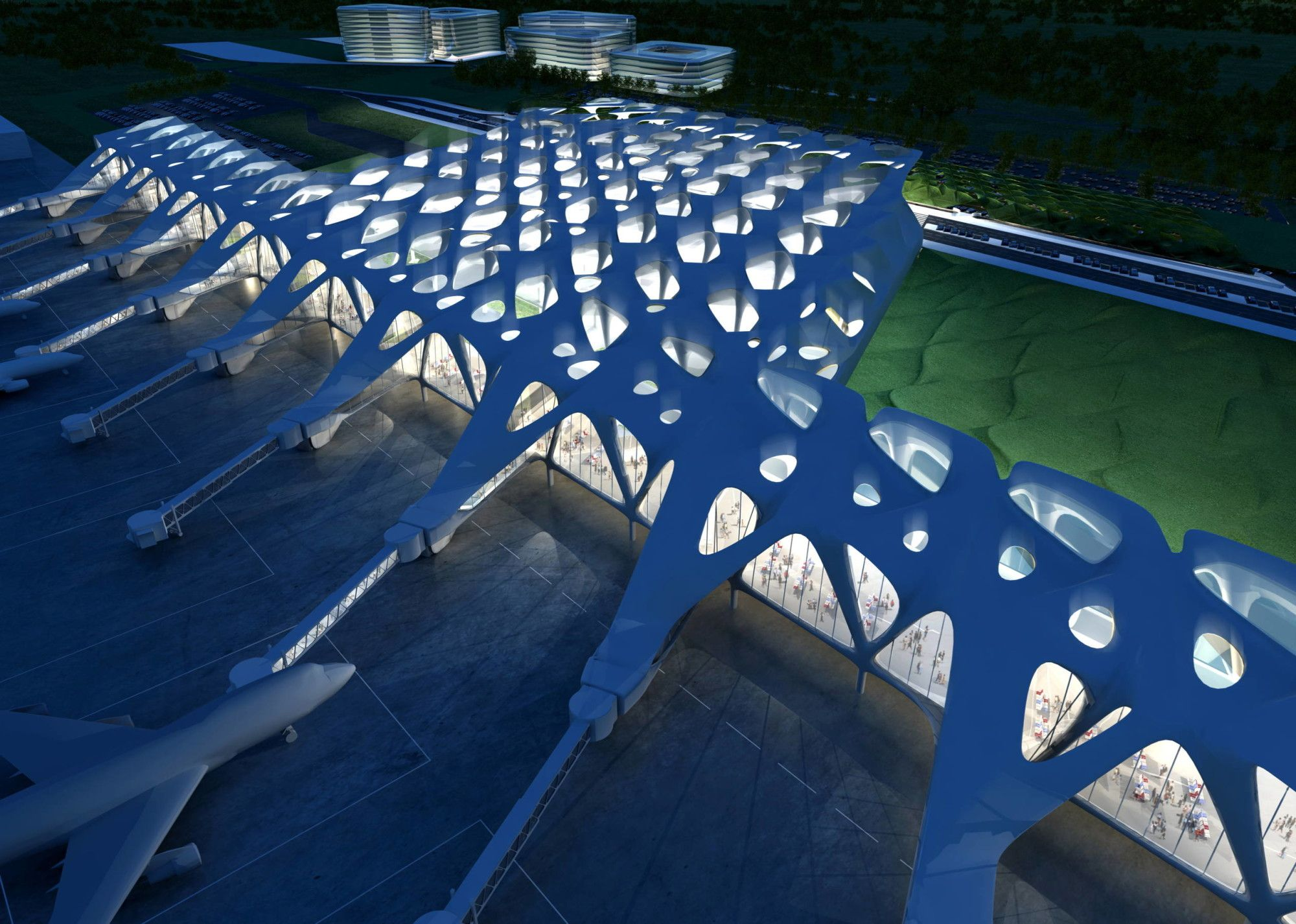 In Memory Of Zaha Hadid Zagreb Airport As Imagined By Iconic Architect