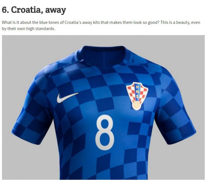 2fa1ab22b Croatian Football Kit Voted Most Beautiful in Europe