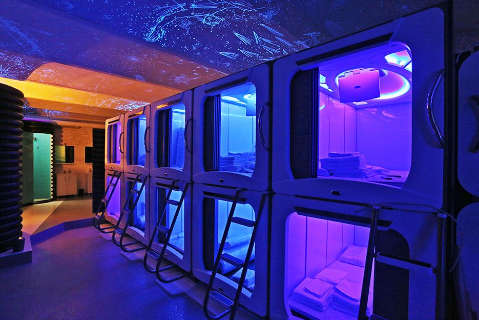 The space-themed hostel is a new accommodation option in the centre of Zagreb