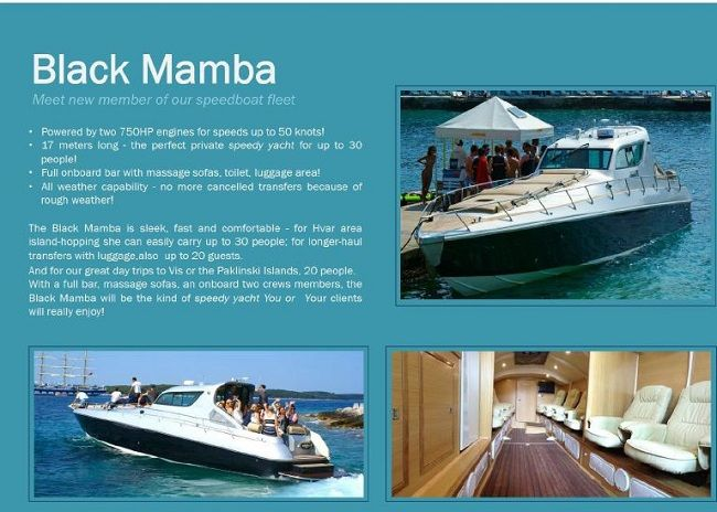 A New Level of Speedboat Luxury: Black Mamba in the Water