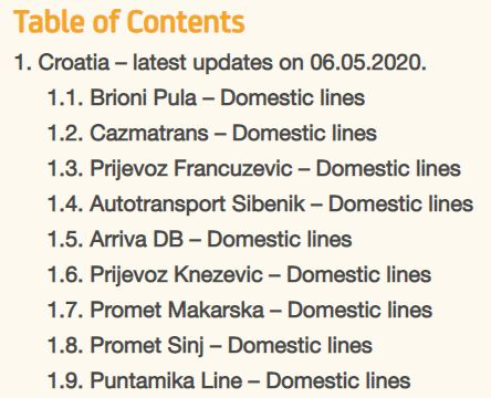 New Bus Timetables Between Croatian Cities From May 11 2020 An Overview