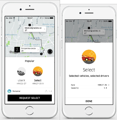 UberSELECT: A Step Above Your Normal Ride in Zagreb