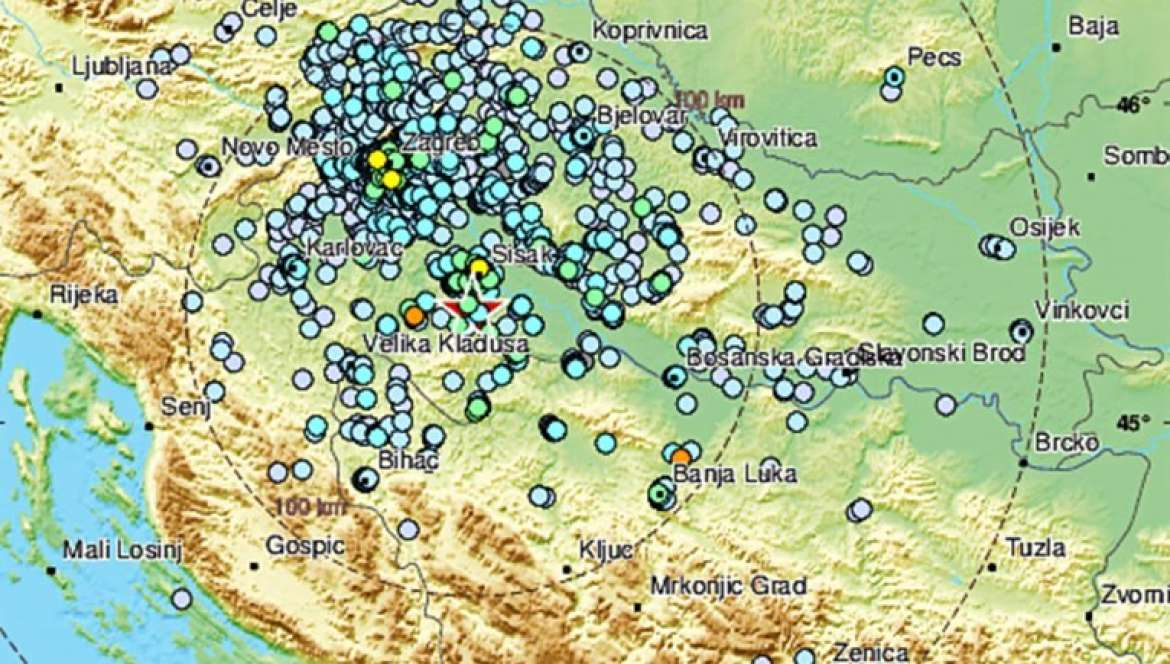 Magnitude 4 5 Quake 59 Km Se Of Zagreb Emsc January 9 22 29